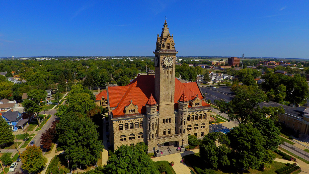 Wood County Courthouse Aerial Photo - Bowling Green, OH