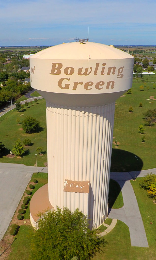 Bowling Green Water Tower Aerial Photo